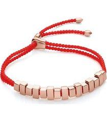 rose gold linear ingot bracelet