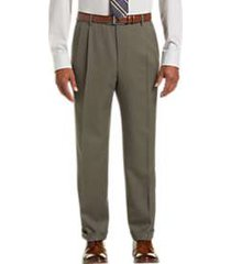 joseph & feiss taupe classic fit pleated dress pants