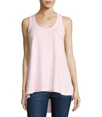 high-low cotton tank top