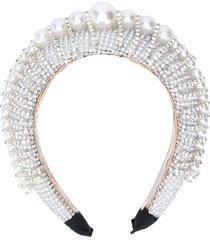 loulou beaded chunky headband - silver