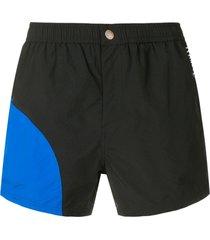 kenzo two-tone swim shorts - black