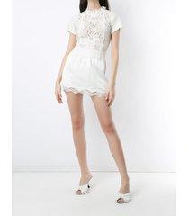 andrea bogosian sissa silk mini skirt - white
