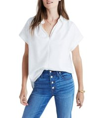 women's madewell central blouse, size xx-large - white