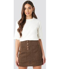 mango espiga skirt - brown