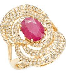 effy women's 14k yellow gold & multi-stone cocktail ring - size 7