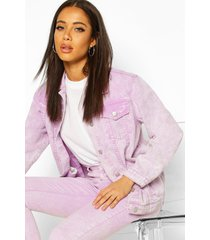 acid wash oversized jean jacket, lilac