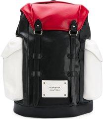givenchy panelled multi-pocket backpack - black