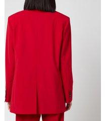 golden goose women's bova tom boy blazer - tango red - it44/uk 12