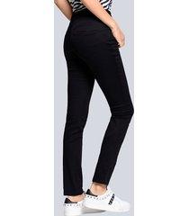 jeans med push up-effekt alba moda svart