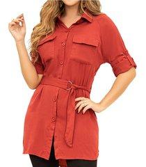 vestido azucena rojo para mujer croydon
