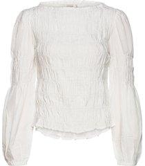 crhenva blouse blus långärmad vit cream