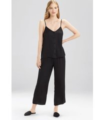bardot satin cami pajamas, women's, black, size s, josie