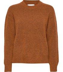 anour o-n 7355 stickad tröja brun samsøe samsøe