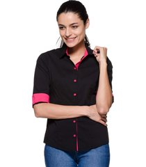 camisa intens manga 3/4 preto