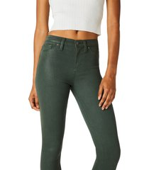 women's hudson jeans barbara coated high waist ankle skinny jeans, size 29 - green