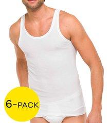 schiesser hemden essentials 6-pack wit