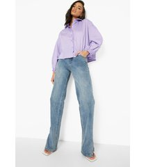 boxy blouse met volle mouwen, lilac