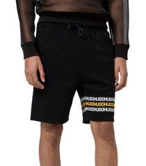 "hugo men's dozzi regular-fit logo-print french terry 10"" sweat shorts"