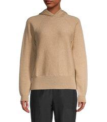 thakoon women's knit hoodie - tan - size l