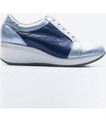 zapato casual mujer freeport z016 azul