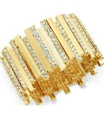 thalia sodi pave crystal bar stretch bracelet, created for macy's