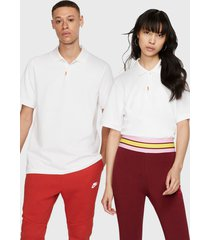 polera nike the nike polo blanco - calce regular