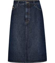 jeanskjol long a line skirt