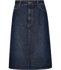 jeanskjol long a line skirt