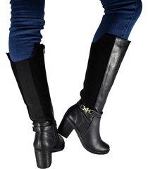 botas en sintético outfit antonella negro