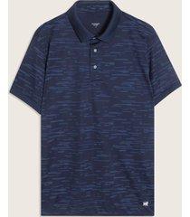 camiseta polo con textura rayas-m