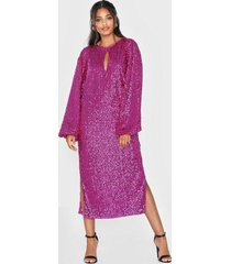 nly eve bold sleeve sequin dress paljettklänningar