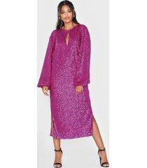 nly eve bold sleeve sequin dress paljettklänningar