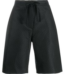 christian dior pre-owned quilted long shorts - black