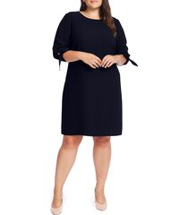 plus size women's cece tie sleeve shift dress