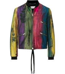 habotai tie-dye varsity jacket
