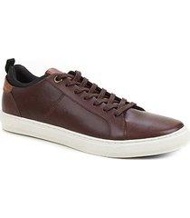 sapatênis couro shoestock textura masculino - masculino