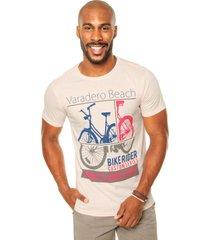 camiseta fiveblu bicicleta rosa - rosa - masculino - dafiti