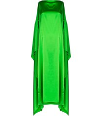 bernadette judy flared cape dress - green