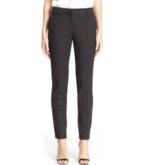 women's st. john collection 'jennifer' stretch micro ottoman ankle pants, size 2 - black