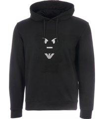 emporio armani manga bear hoodie - nero 3g1m711j07z