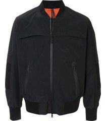 blackbarrett elbow patch bomber jacket