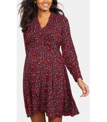 motherhood maternity floral-print a-line dress