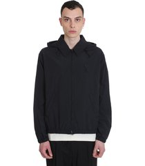 ami alexandre mattiussi casual jacket in black nylon