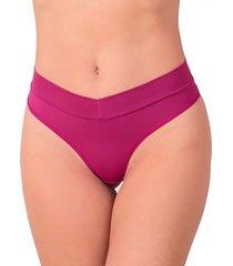 calcinha vip lingerie poliamida cós e fio duplo rosa