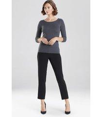 natori light weight knit top, women's, grey, size l natori