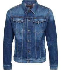 3301 slim jacket faded stone elto stretch denim