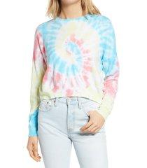 women's blanknyc tie dye sweatshirt, size x-large - none