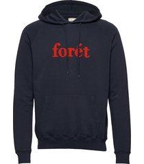 maple hoodie - cream hoodie trui blauw forét
