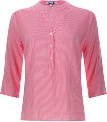 blusa mujer rayas verticales color rosado, talla l
