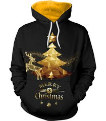 2017 3d christmas x mas tree hoodie unisex digital print sweatshirts hooded top